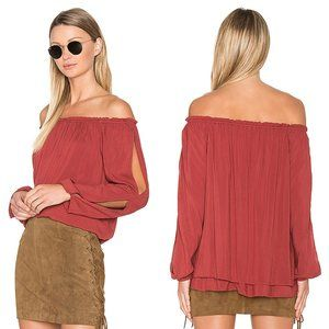 Sanctuary XS Brooklyn Brick Red Chantel Blouse